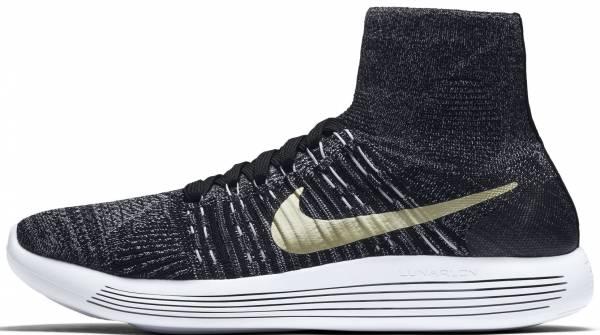 Nike LunarEpic Flyknit men black/white/metallic gold star
