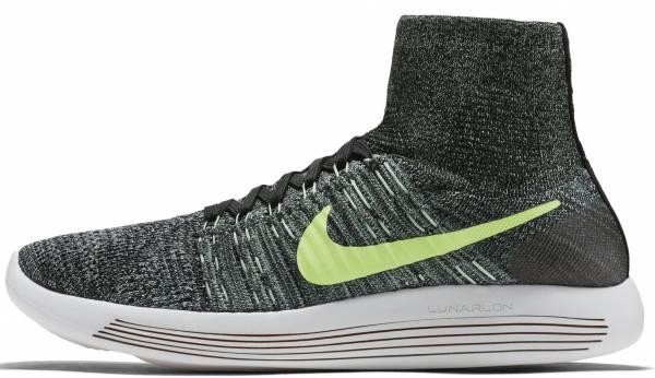 Nike LunarEpic Flyknit men black/hasta/enamel green/ghost green