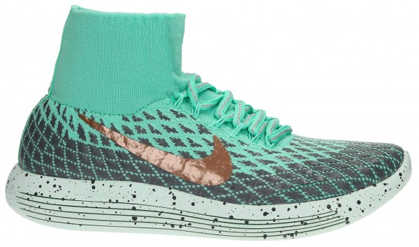Nike LunarEpic Flyknit men mint/tu00fcrkis/gold