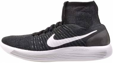 Nike LunarEpic Flyknit - Blanco Black White Anthracite Volt