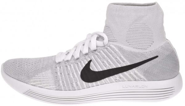 Nike LunarEpic Flyknit men white/black-wolf grey-pr pltnm