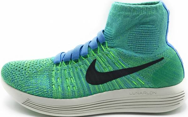 Nike LunarEpic Flyknit - Blue Black Voltage Green (818677403)