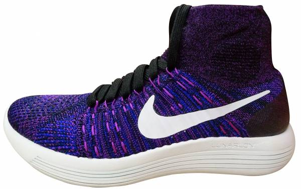 Nike LunarEpic Flyknit woman black (black / white-vivid purple-cncrd)
