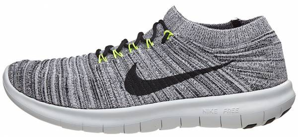 Nike Free RN Motion Flyknit men weiu00df (white/black volt off white)