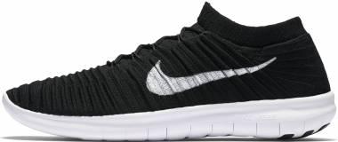 Nike Free RN Motion Flyknit - Noir Black White Volt Dark Grey