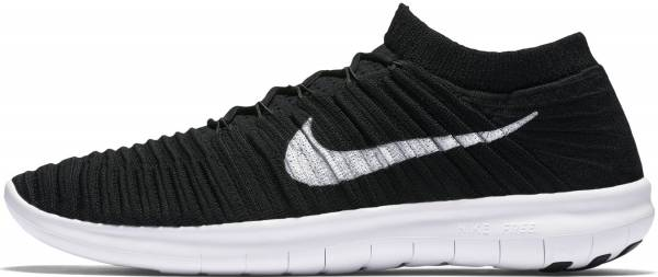 Nike Free RN Motion Flyknit - Black (Black / White-volt-dark Grey)