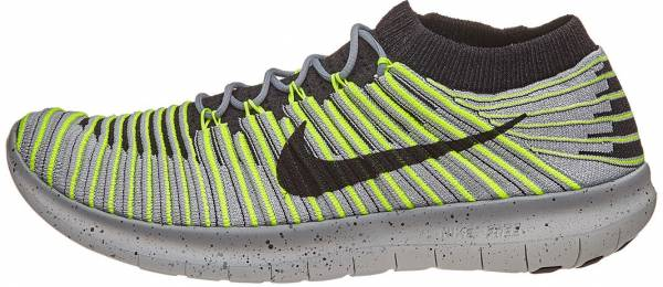 Nike Free RN Motion Flyknit men grau (wolf grey/black volt cool grey)