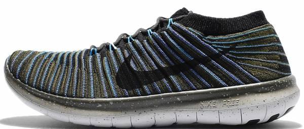 Nike Free RN Motion Flyknit men sequoia/black-blue glow-rough green
