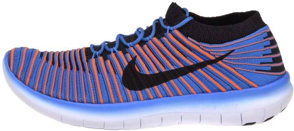 Nike Free RN Motion Flyknit - Photo Blue/Total Orange/Hyper Cobalt/Black