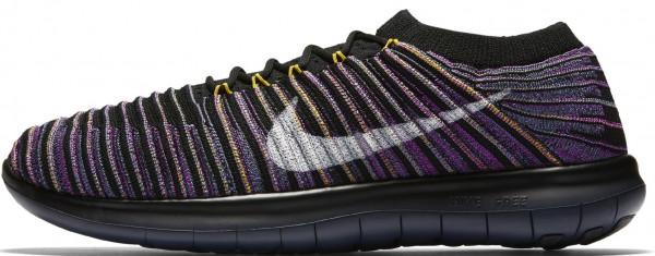 Nike Free RN Motion Flyknit woman black/sail/ocean fog/vivid purple