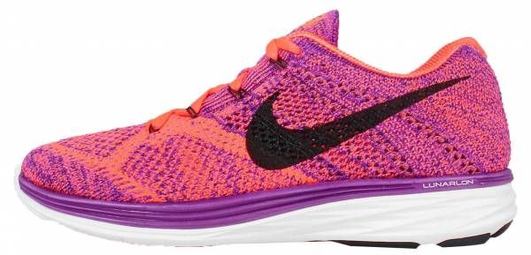 Nike Flyknit Lunar 3 woman vivid purple/hyper orange/court purple/black