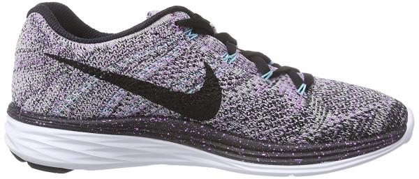 Nike Flyknit Lunar 3 woman multicolor - mehrfarbig (fchs glw/blck-vpr grn-plrzd bl 500)