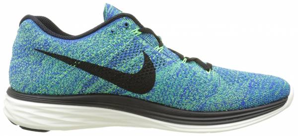 Nike Flyknit Lunar 3 men racer blue/voltage green/sail/black