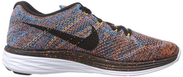 Nike Flyknit Lunar 3 men total orange/blue lagoon/laser orange/black