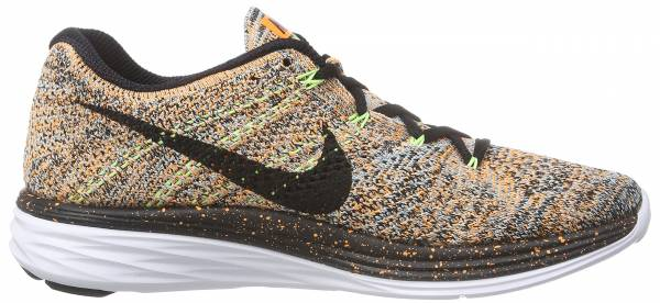 Nike Flyknit Lunar 3 woman multicolour - mehrfarbig (bright citrus/black/glacier ice)