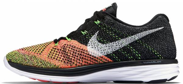 super popular 92ed4 b52ab Nike Flyknit Lunar 3 Black White-hot Lava-volt