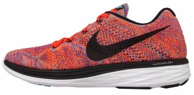 Nike Flyknit Lunar 3 - Concord/Black-total Crimson-total Orange (698181406)