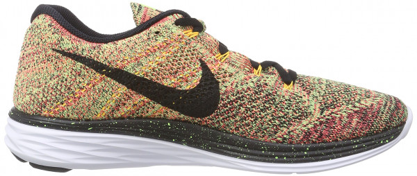 Nike Flyknit Lunar 3 men ghost green/black-hot lava-laser orange