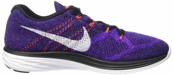 Nike Flyknit Lunar 3 men black/concord/vivid purple/white