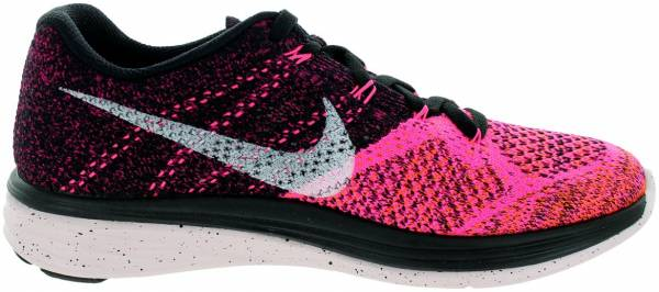 Nike Flyknit Lunar 3 woman black white pink power total orange 002