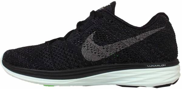 Nike Flyknit Lunar 3 woman black/metallic pewter/anthracite/green