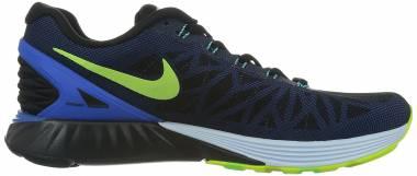 Nike LunarGlide 6 Black/Volt/Hyper Cobalt Men