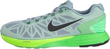 Nike LunarGlide 6 - Dove Grey Blk Psn Grn Flsh Lm (654433011)
