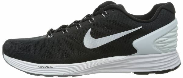 Nike LunarGlide 6 - Black / White / Pr Platinum / Cl Grey