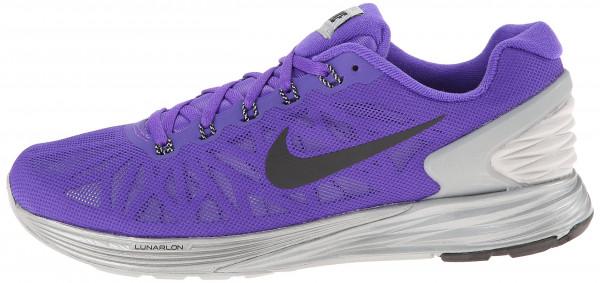 ... womens sneakers; mens nike lunarglide 6 white purple ...