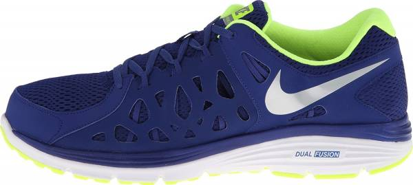 1b568bf9bb68a Nike Dual Fusion Run 2 Deep Royal Blue Volt White Metallic Silver