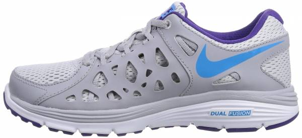 Nike Dual Fusion Run 2 Woman Pure Platinum Wolf Grey Court Purple