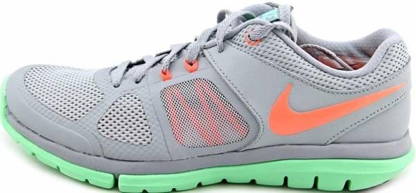 Nike Flex Run 2014 - Light Magnet Grey/Green Glow/White/Bright Mango