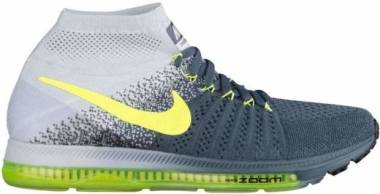 Nike Air Zoom All Out Flyknit - Blue Fox/Volt-pure Platinum-black