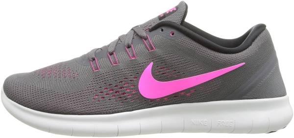 Nike Free RN woman dark grey/black/cool grey/pink blast
