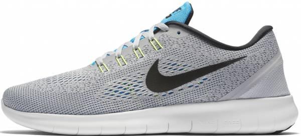 Nike Free RN men grau (wolf grey/black-blue glow-volt)
