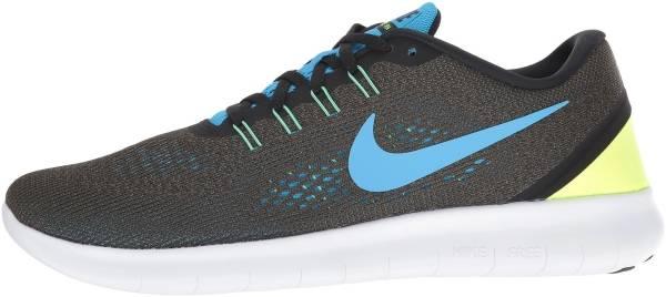 Nike Free RN men cargo khaki/black/volt/blue glow