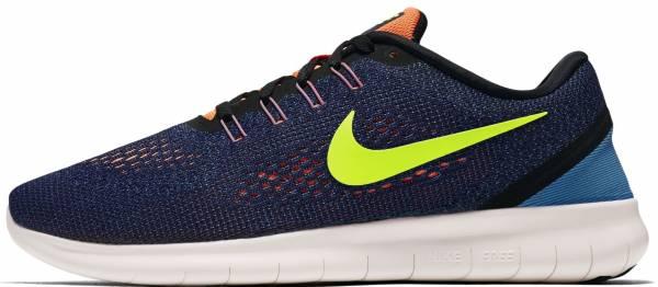 Nike Free RN men purple dynasty/black/bright mango/volt