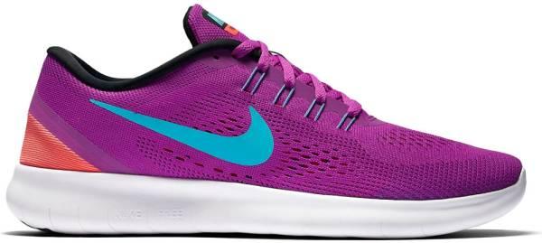 Nike Free RN woman hyper violet/black/total crimson/gamma blue