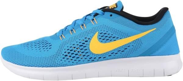 Nike Free RN men blue (heritage cyan/black/blue spark/laser orange)
