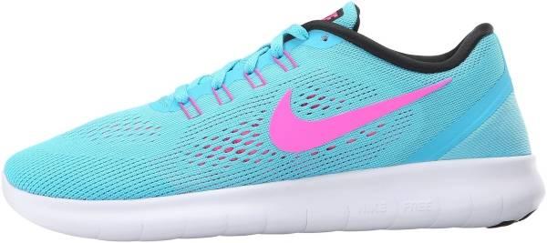 Nike Free RN woman gamma blue/pink blast/photo blue/black