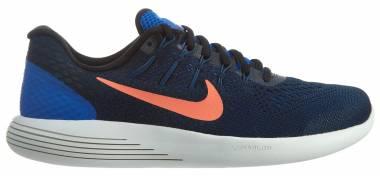 Nike LunarGlide 8 - Blue Hyper Cobalt Black Loyal Blue Bright Mango (843725402)