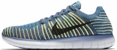 Nike Free RN Flyknit - Blue (831069407)