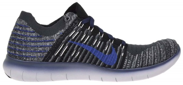 Nike Free RN Flyknit men black / college navy - anthracite - cool grey