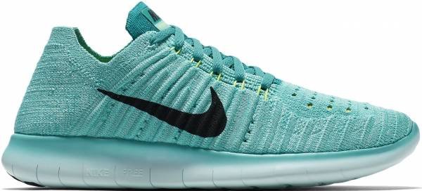 Nike Free RN Flyknit woman hyper turquoise/volt/rio teal/black
