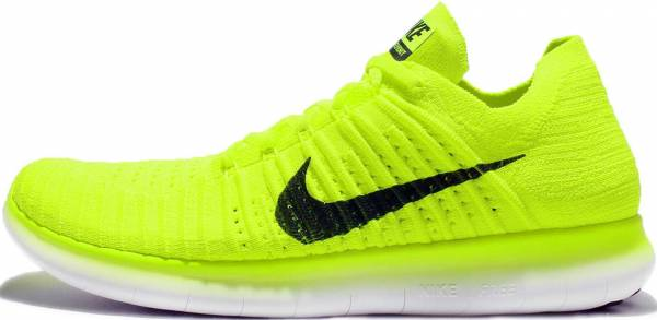 check out 4710c 4d79c Nike Free RN Flyknit MS Verde (Volt   Black-white)