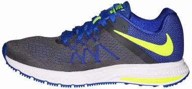Nike Air Zoom Winflo 3 - Gris (Dark Grey / Volt-racer Blue-white)