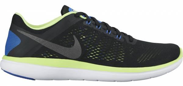 Nike Flex RN 2016 men black/ghost green/white/metallic dark grey