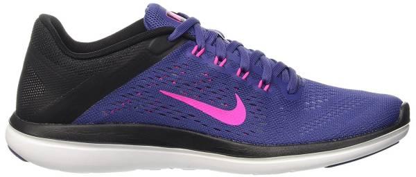 Nike Flex RN 2016 woman multicolore (dk purple dust/pink blast-black)