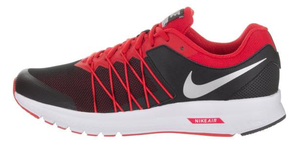 Nike Air Relentless 6 men black/mtlc silver/university red