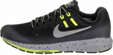 Nike Air Zoom Structure 20 Shield - Black/Metallic Silver-dark Grey